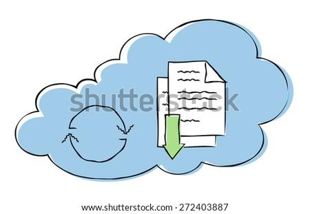 Cloud database concept. - stock vector