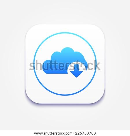 Cloud download icon  - stock vector