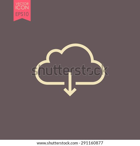 Cloud download icon. - stock vector
