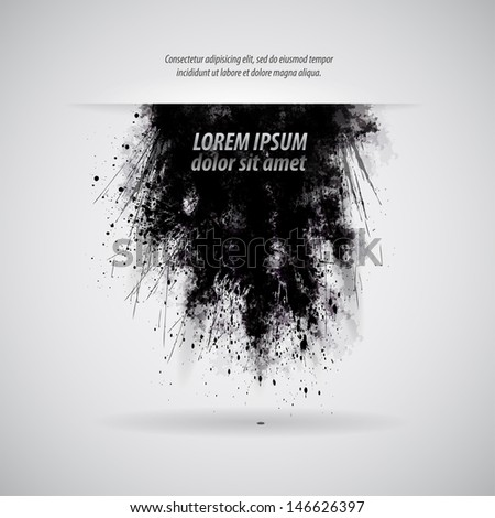 cloud explosion dirt / grunge style - stock vector