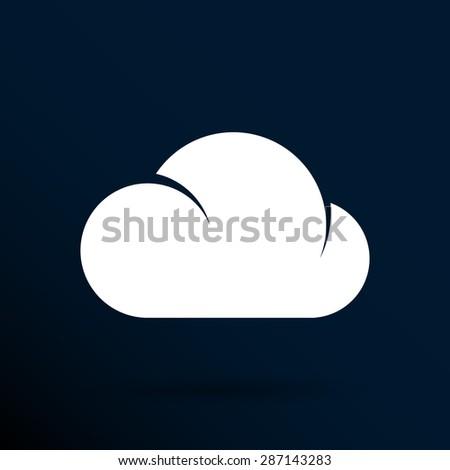 cloud icon sharing network bin lock forward key server. - stock vector