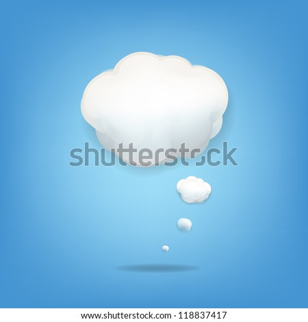 Cloud Icon With Gradient Mesh, Vector Illustration - stock vector