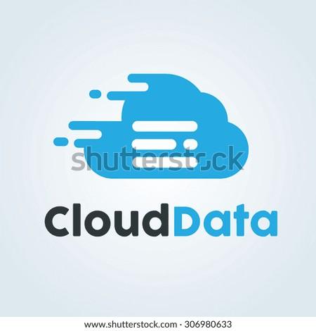 Cloud logo,Cloud Data,Vector Logo Template - stock vector