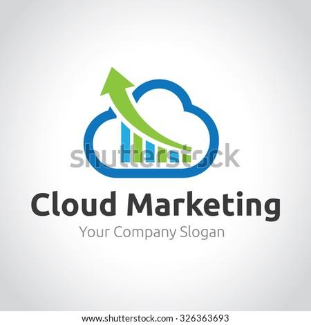 Cloud Marketing,Cloud Logo,Vector Logo Template - stock vector