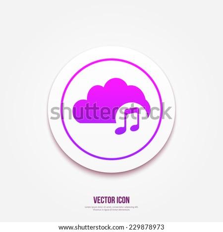 Cloud Music icon - stock vector