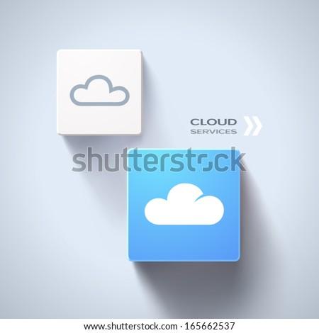 Cloud services concept. Eps10 vector - stock vector