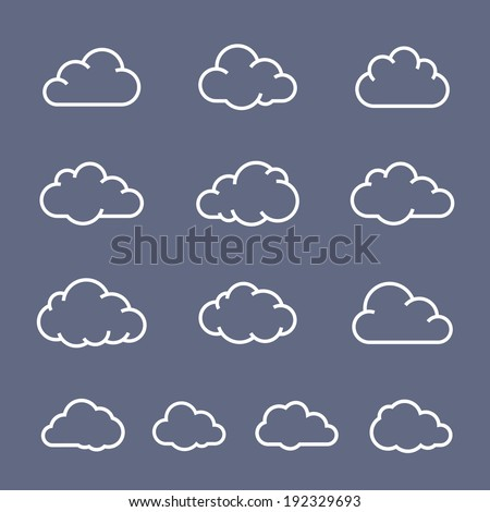Cloud shape collection. Cloud vector icons - stock vector