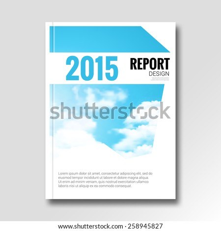 Cloud sky abstract annual report cover design template. vector illustration - stock vector