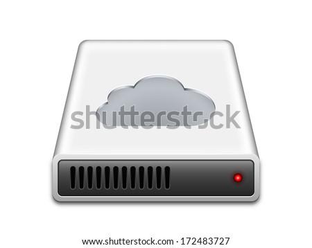 Cloud storage icon, vector illustration - stock vector