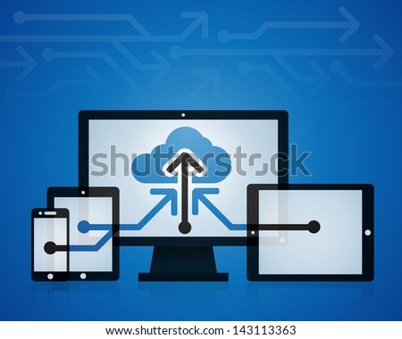 Cloud Storage Technology - stock vector