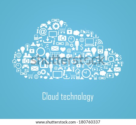 Cloud technology illustration eps 8 - stock vector