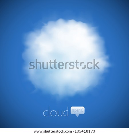 cloud vector background - stock vector