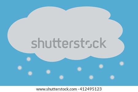 cloud with snow - stock vector