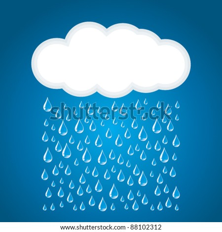 Clouds and rain. - stock vector