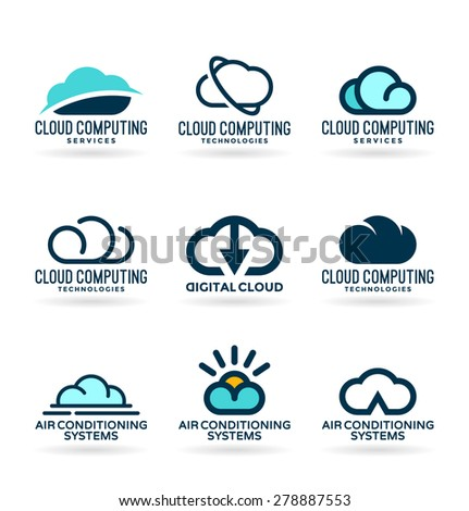 Clouds. Cloud computing (2) - stock vector