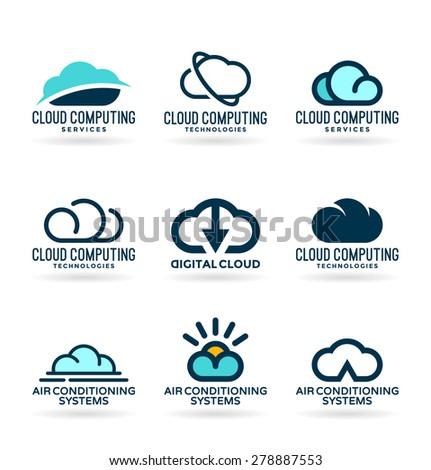 Clouds. Cloud computing (2) - stock vector