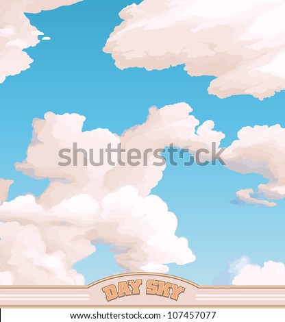 Clouds in a blue Sky - stock vector