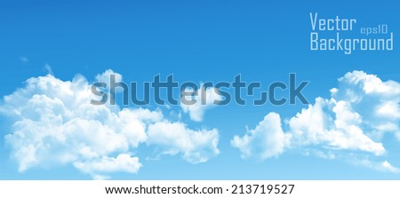 clouds in the blue sky - vector - stock vector