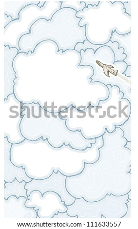 Cloudy - stock vector