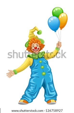Clown - stock vector
