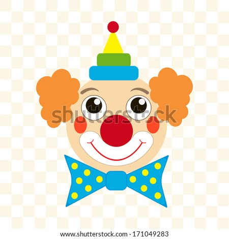 clown face - stock vector