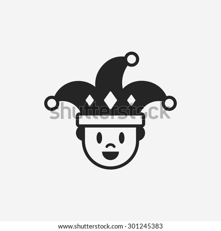 clown icon - stock vector