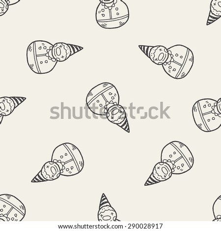 clown toy doodle seamless pattern background - stock vector