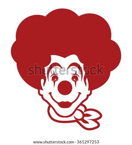 clown vector icon - stock vector