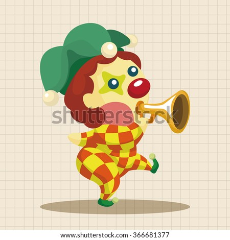 clowns theme elements - stock vector
