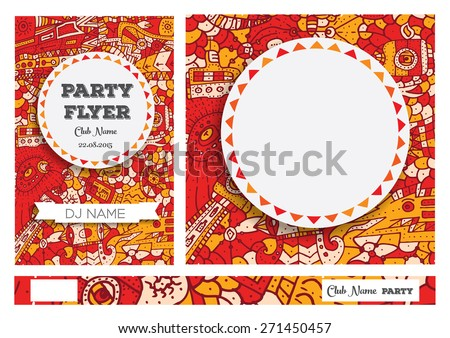 Club Flyers with copy space Vector illustration - stock vector