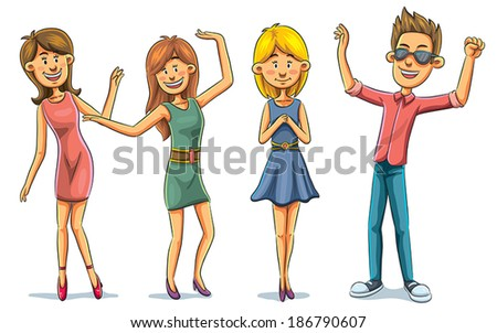 Clubbing Party - stock vector