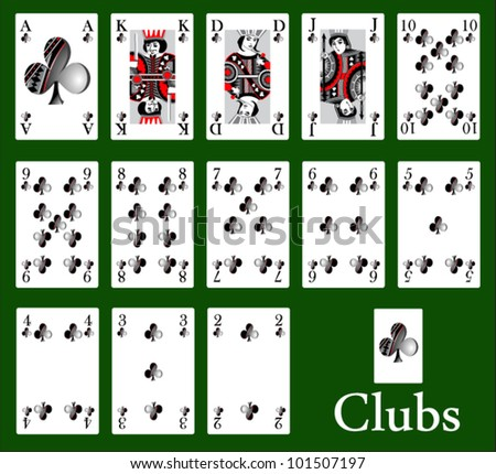 clubs - stock vector