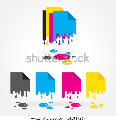 cmyk blank drops colored - stock vector