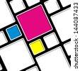 CMYK cubes vector illustration - stock vector
