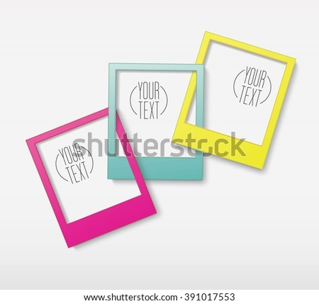 CMYK Edition of a Scalable Eps10 Abstract Geometric Blank Photo Gallery Background for Web, Brochure, Infographics - stock vector