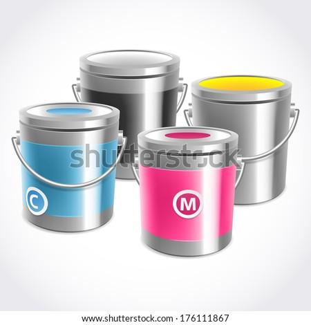 CMYK inks - stock vector