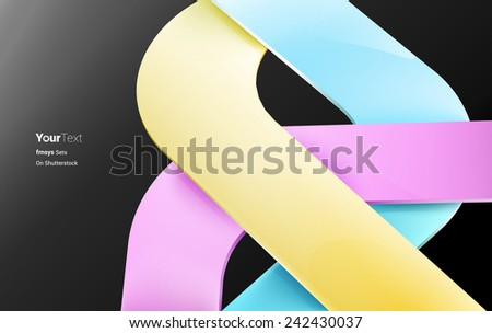 CMYK Place Holder Vector Composition. Neo Modernsit Archectural Wallpaper Style. For Yout Event Invitation Card, Music Album Art Cover Design. - stock vector