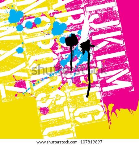 CMYK Print concept background, vector, EPS8 - stock vector