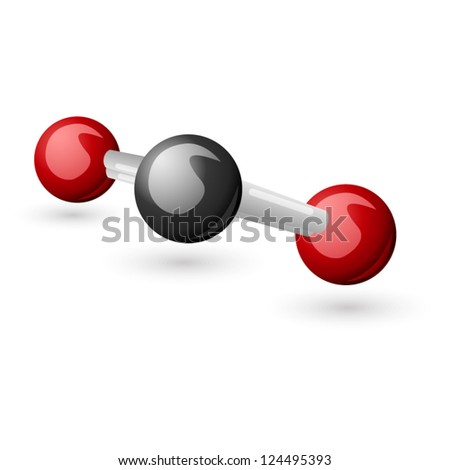 CO2 Carbon Dioxide molecule - stock vector