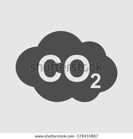CO2 icon , carbon dioxide formula symbol , vector illustration, sign - stock vector
