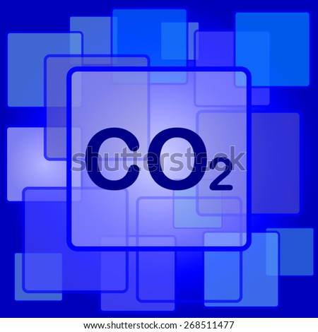 CO2 icon. Internet button on abstract background.  - stock vector