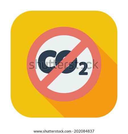 CO2 icon. Single flat color icon. Vector illustration. - stock vector
