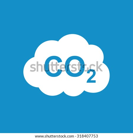 CO2 icon . Vector illustration - stock vector
