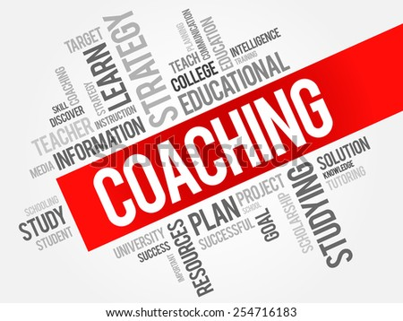 COACHING word cloud, education concept - stock vector