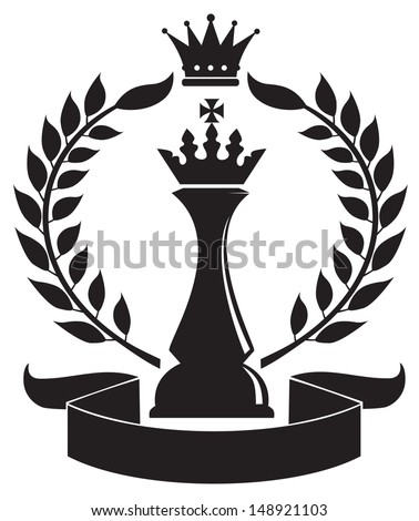 coat of arms depicting a Chess King - stock vector