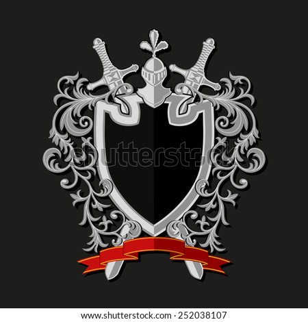 Coat of arms in modern flat style. Vector illustration  - stock vector