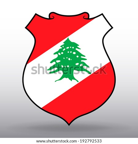 Coat of arms of Lebanon - stock vector