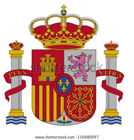 coat of arms of Spain - stock vector