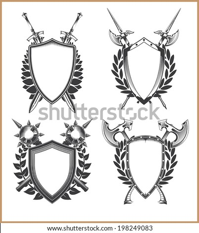 Coat of arms template - stock vector