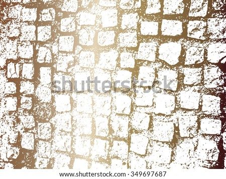 Cobblestone paving texture in color gradient  - stock vector